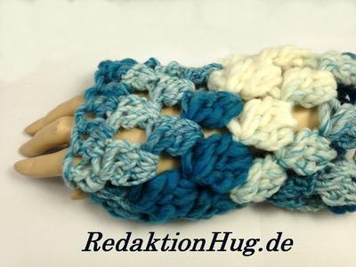 Häkeln - Armstulpen mit Büschelmaschen - Veronika Hug
