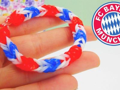 Loom Bands FC Bayern München Armband Tutorial. Bayern Fishtail Fussball Rainbow Loom | deutsch