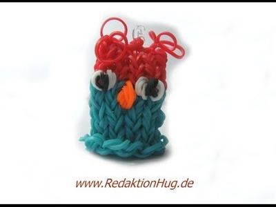 Loom Bands mit Rainbow Loom Eule Anleitung Deutsch - Veronika Hug
