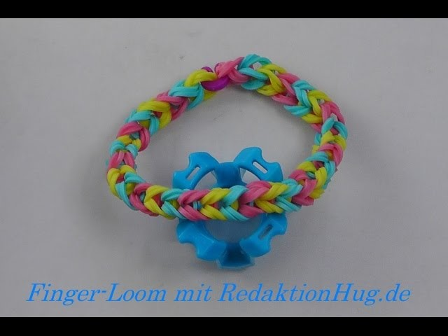 Loom Bands - Rainbow Loom - Finger-Loom - Band E - Veronika Hug