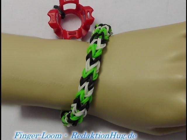 Loom Bands - Rainbow Loom - Finger-Loom - Band J - Veronika Hug