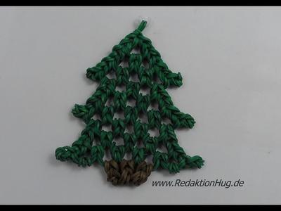 Loom Bands Tannenbaum ohne Rainbow Loom Deutsche Anleitung - Veronika Hug