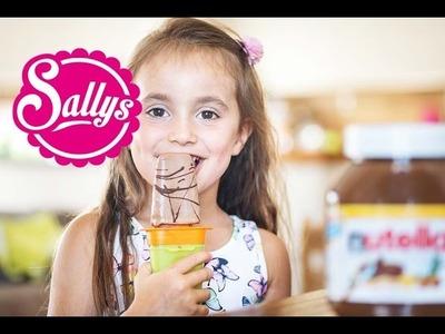 Nutella-Eis am Stiel selber machen.aus 3 Zutaten. Wassereis selber machen