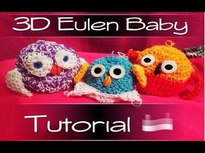 Rainbow Loom 3D Baby Eule  | German Tutorial