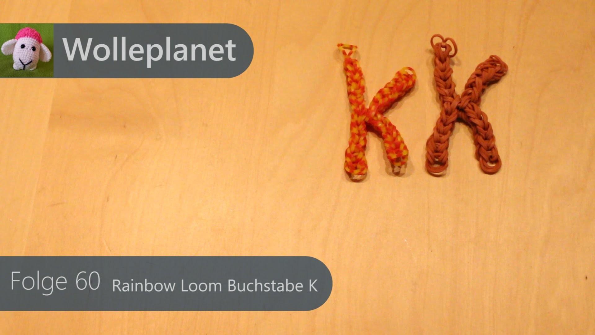 Rainbow Loom Buchstabe K mit Gabeln