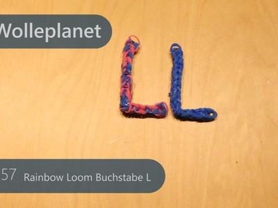 Rainbow Loom Buchstabe L mit Gabeln