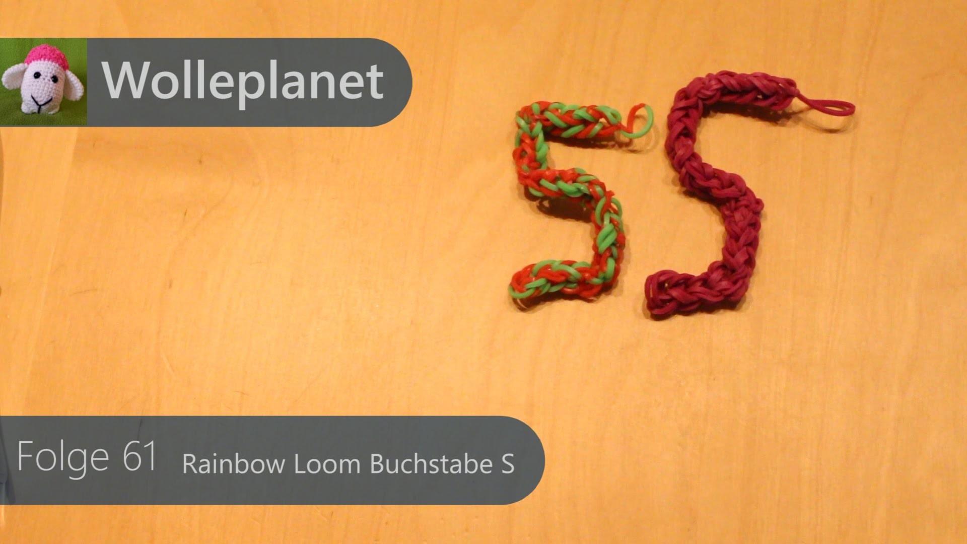 Rainbow Loom Buchstabe S mit Gabeln