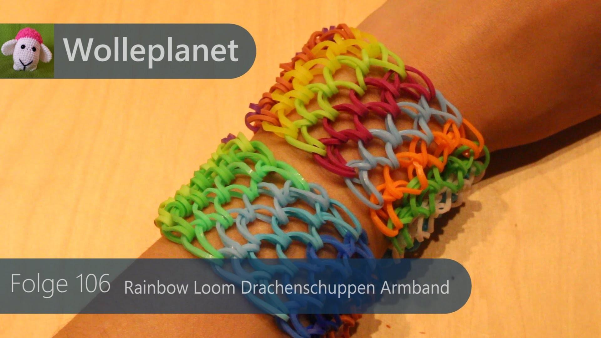 Rainbow Loom Drachenschuppen Armband mit Loom