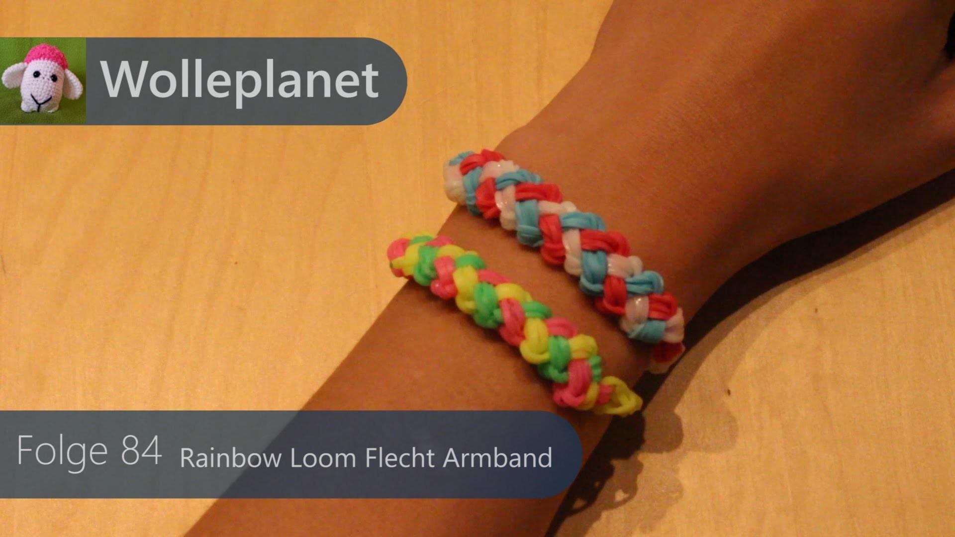 Rainbow Loom Flecht Armband mit Loom