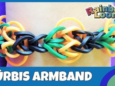Rainbow Loom Kürbis-Armband für Halloween - deutsche Anleitung