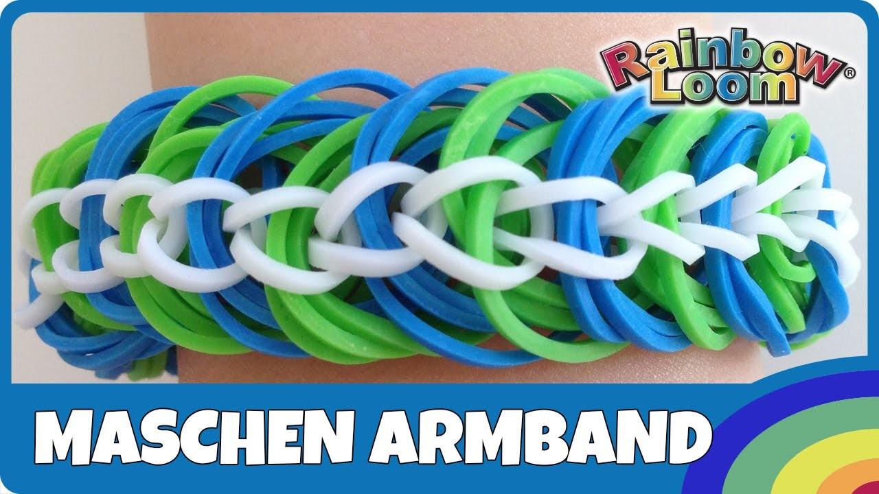 Rainbow Loom Maschen-Armband - deutsche Anleitung