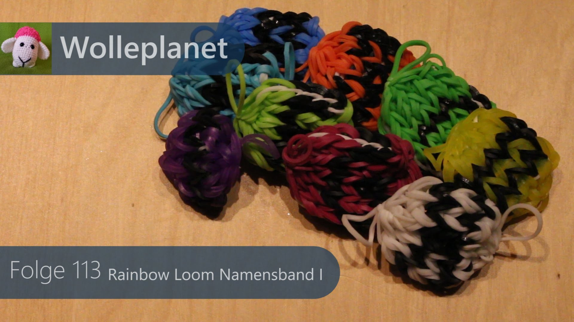 Rainbow Loom Namensband I mit Loom