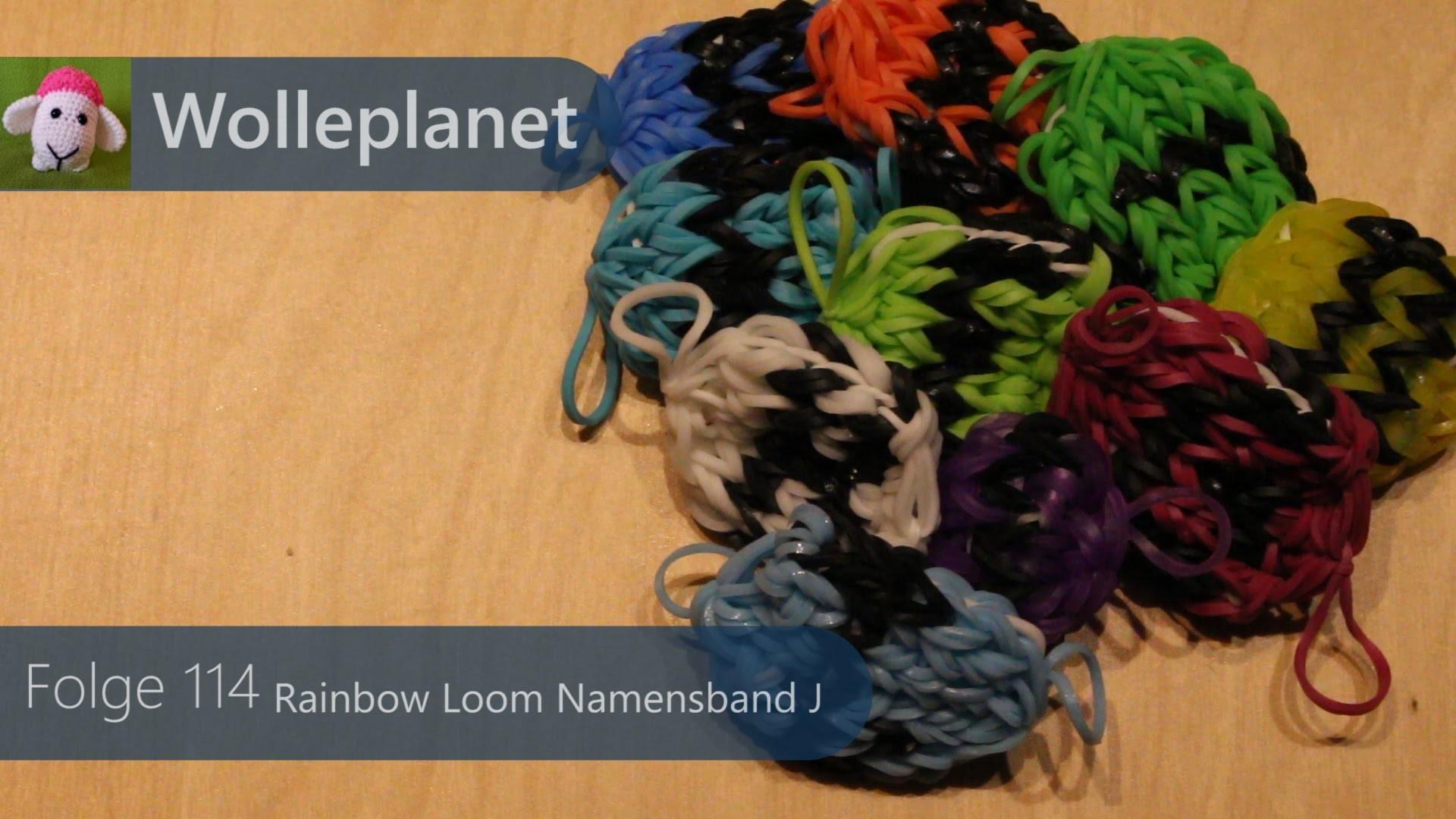 Rainbow Loom Namensband J mit Loom