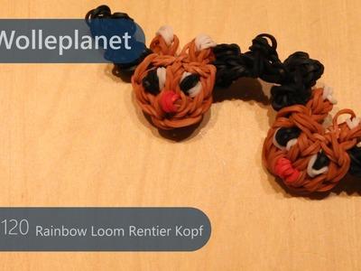 Rainbow Loom Rentier Kopf mit Loom