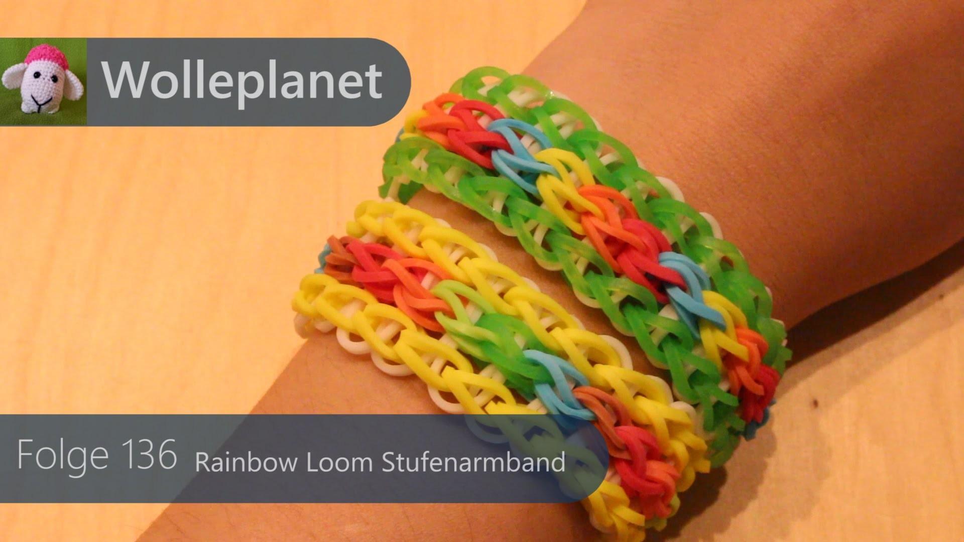 Rainbow Loom Stufenarmband mit Gabel