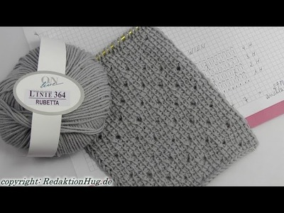 Tunesisch Häkeln - Schal im Muster Wien - Veronika Hug