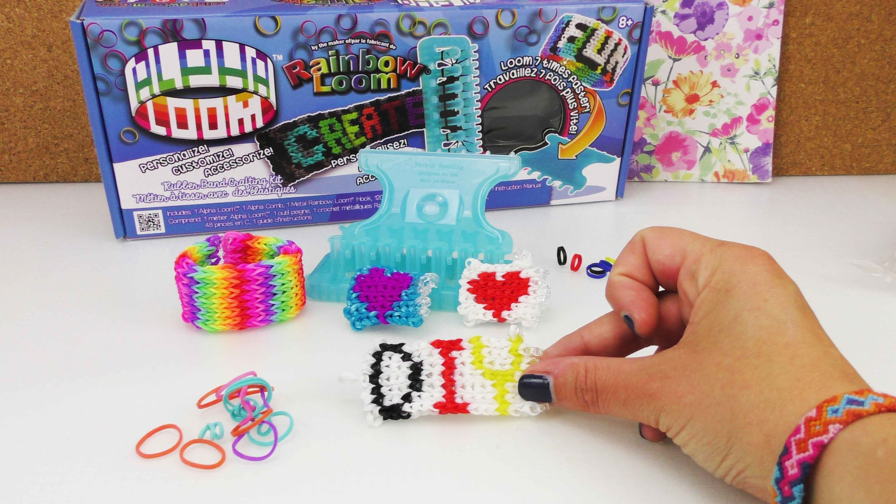 Alpha Loom Bands Info Video | Normale Loom Band auf dem Alpha Loom?! Rainbow Loom