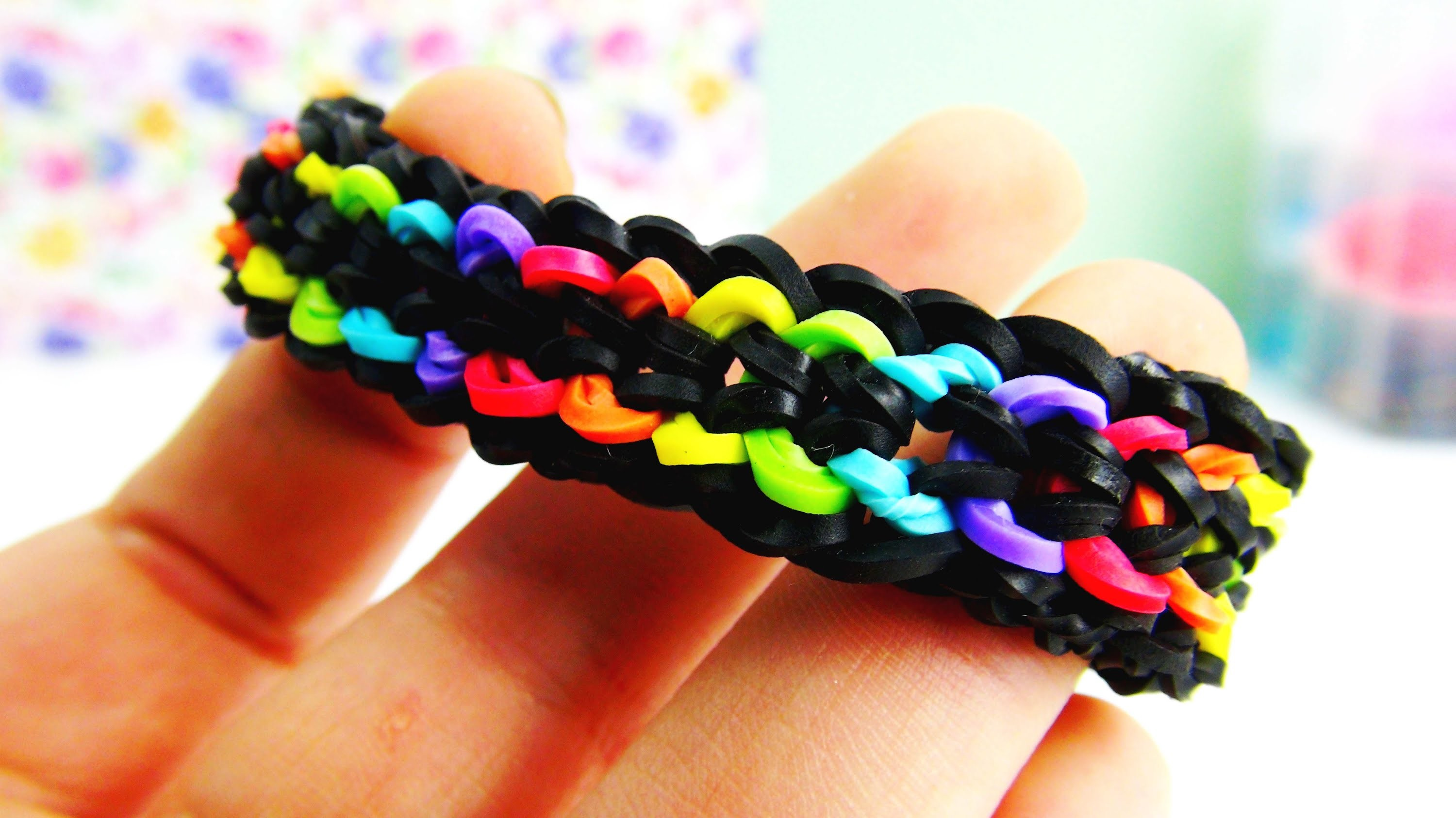 Dragonscale Double Rainbow Colour Bracelet. Rainbow Loom Drachenarmband Anleitung | deutsch