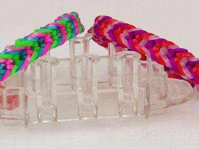 Loom Armband | 3 fach Invertiertes Armband | Monstertail Rainbow Loom