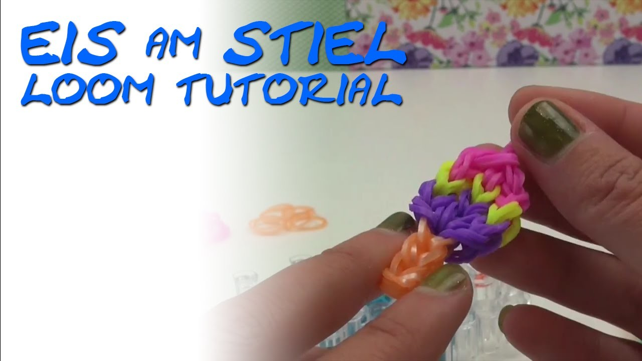 Loom Bands Eis deutsche Anleitung Eis am Stiel Anhänger How to make ice cream Charms