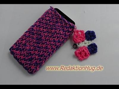 Loom Bands mit Rainbow Loom Handyhülle mit Schmetterling Anleitung Deutsch - Veronika Hug