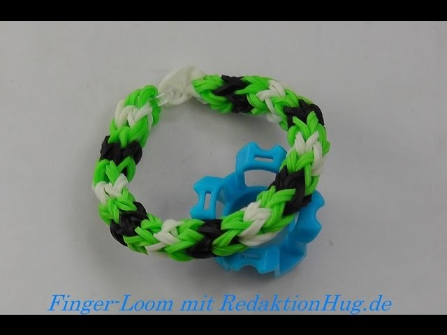 Loom Bands - Rainbow Loom - Finger-Loom - Band D - Veronika Hug