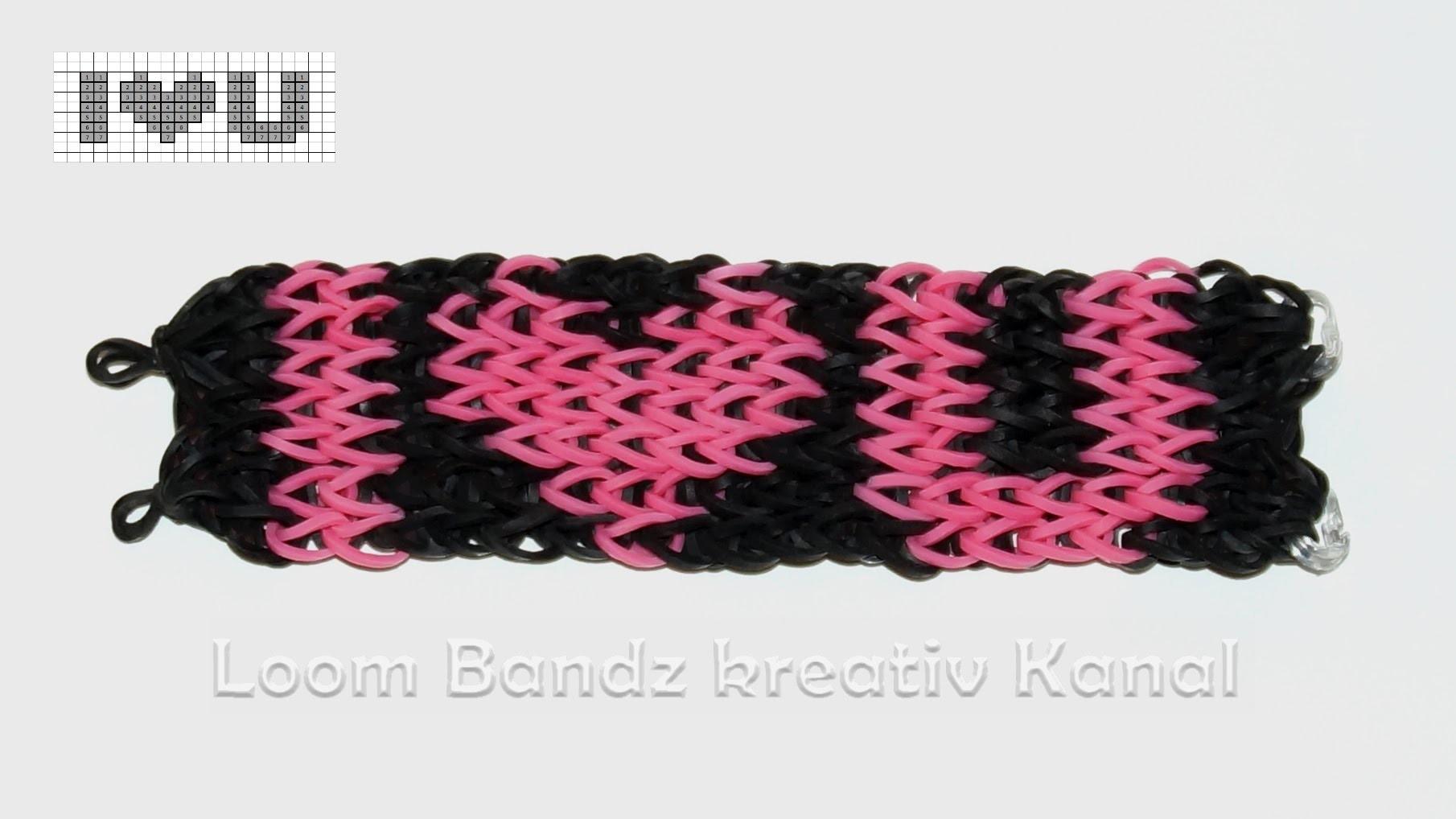 Loom Bandz Anleitung deutsch, Armband mit Rainbow Loom,