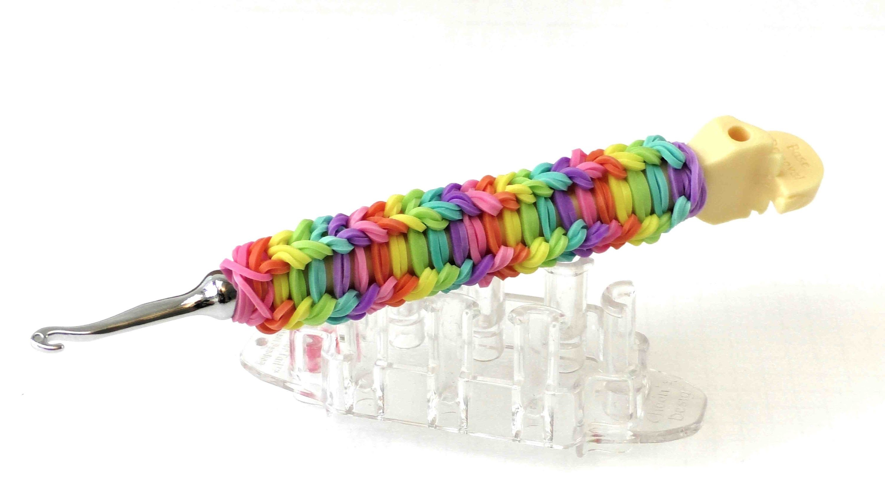 Rainbow Loom Anleitung deutsch Haken umloomen Tutorial - original Rainbow Loom Haken