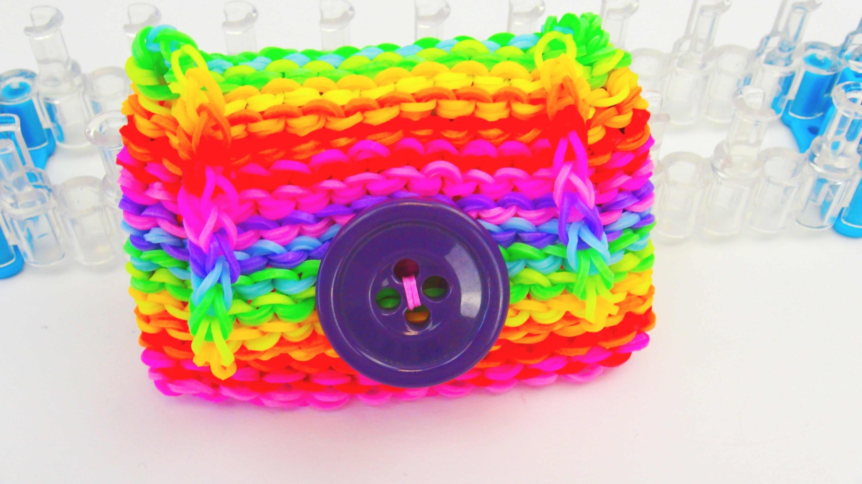 Rainbow Loom Geldbörse DIY. Echtes Portemonnaie aus Loom Bands auf dem Loom Board | deutsch
