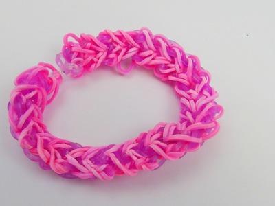 Rainbow Loom Herz Armband. Heart Bracelet Heart Fishtail Rubber Band Anleitung Tutorial | deutsch