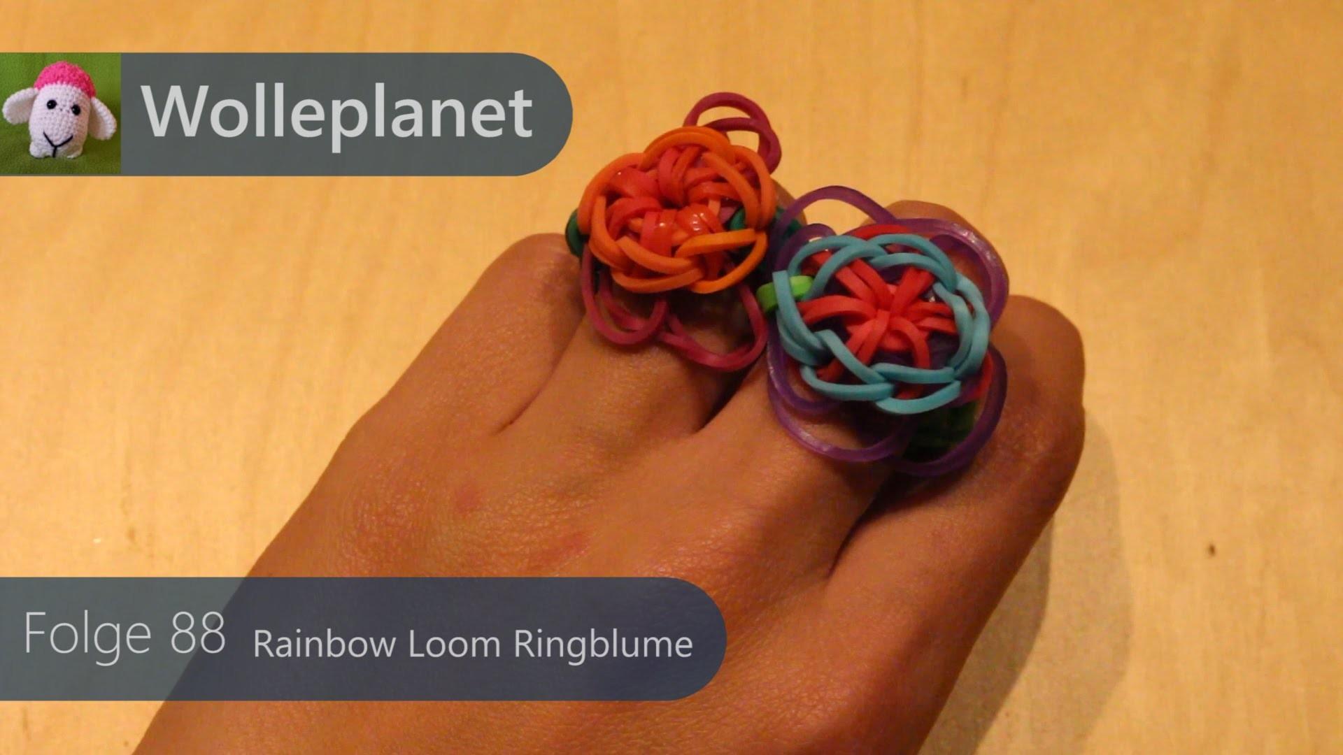 Rainbow Loom Ringblume mit Loom