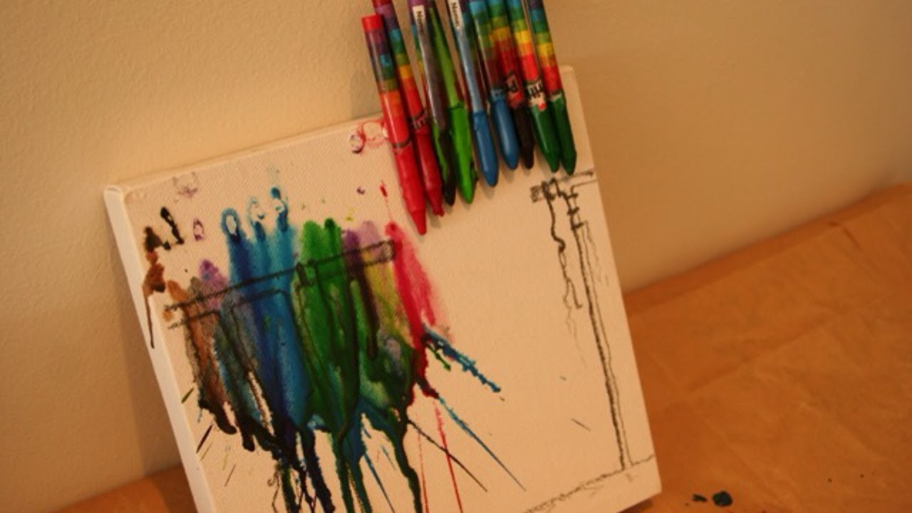Make Fun Melted Crayon Art - DIY Crafts - Guidecentral