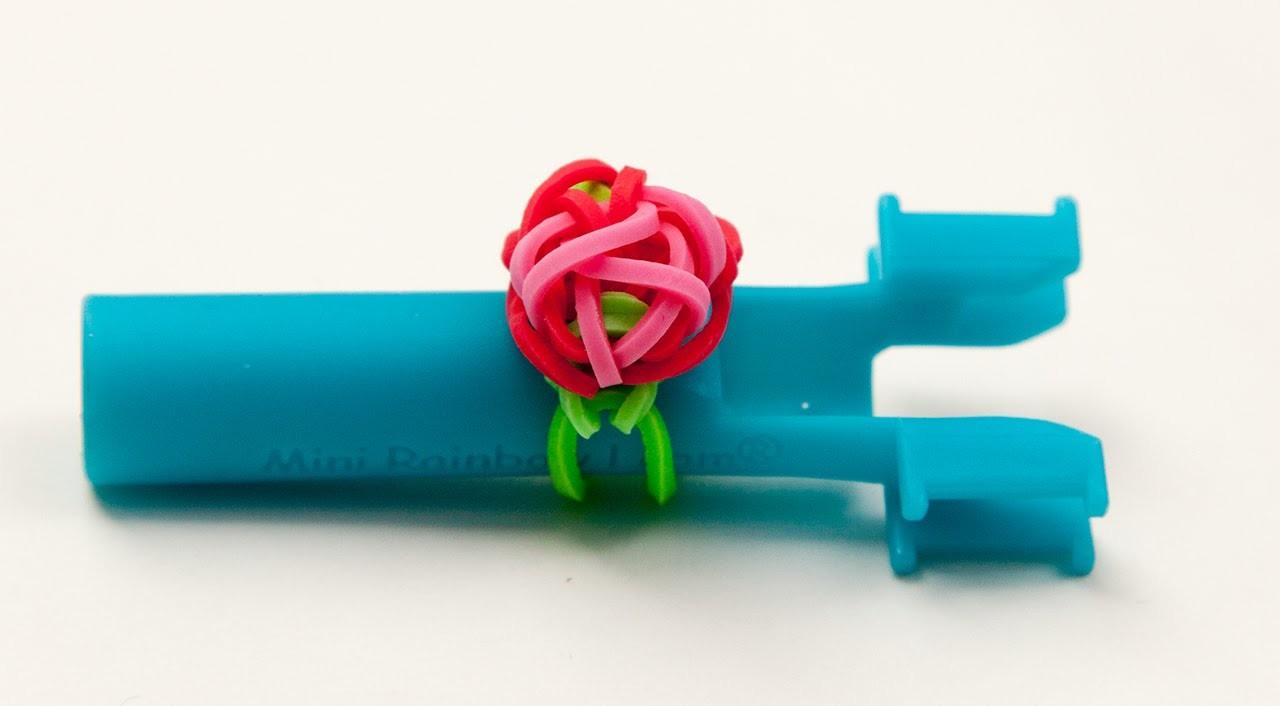 Rainbow Loom - Ring mit Rose - Deutsch