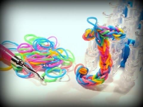 Buchstabe J - Loom Bands mit Rainbow Loom deutsch, Letter J (deutsche Anleitung)