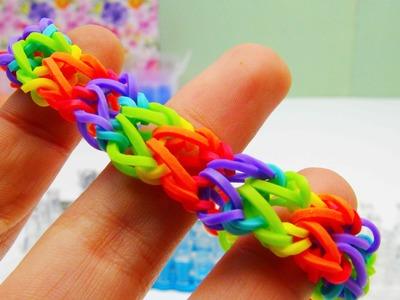 Rainbow Loom V Armband. Bracelet mit MonsterTail ohne Loom Board selber machen | deutsch