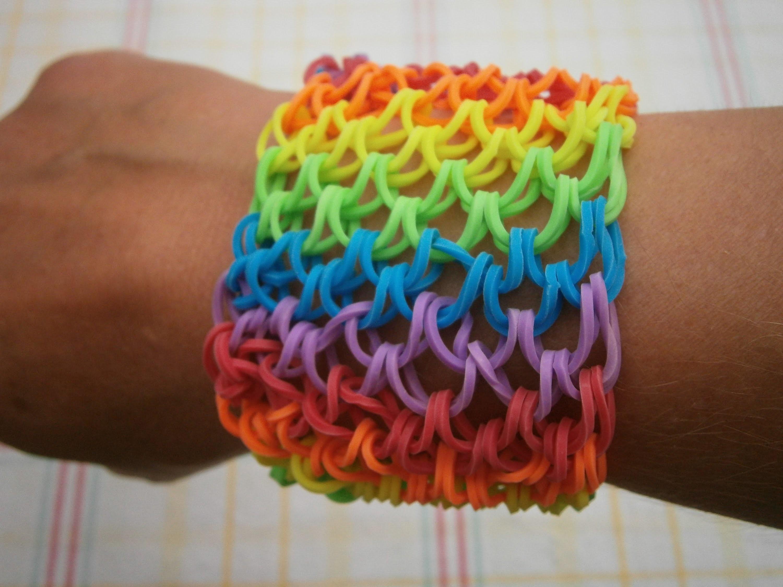 Rainbow Loom Drachenschuppen Armband kurze Anleitung