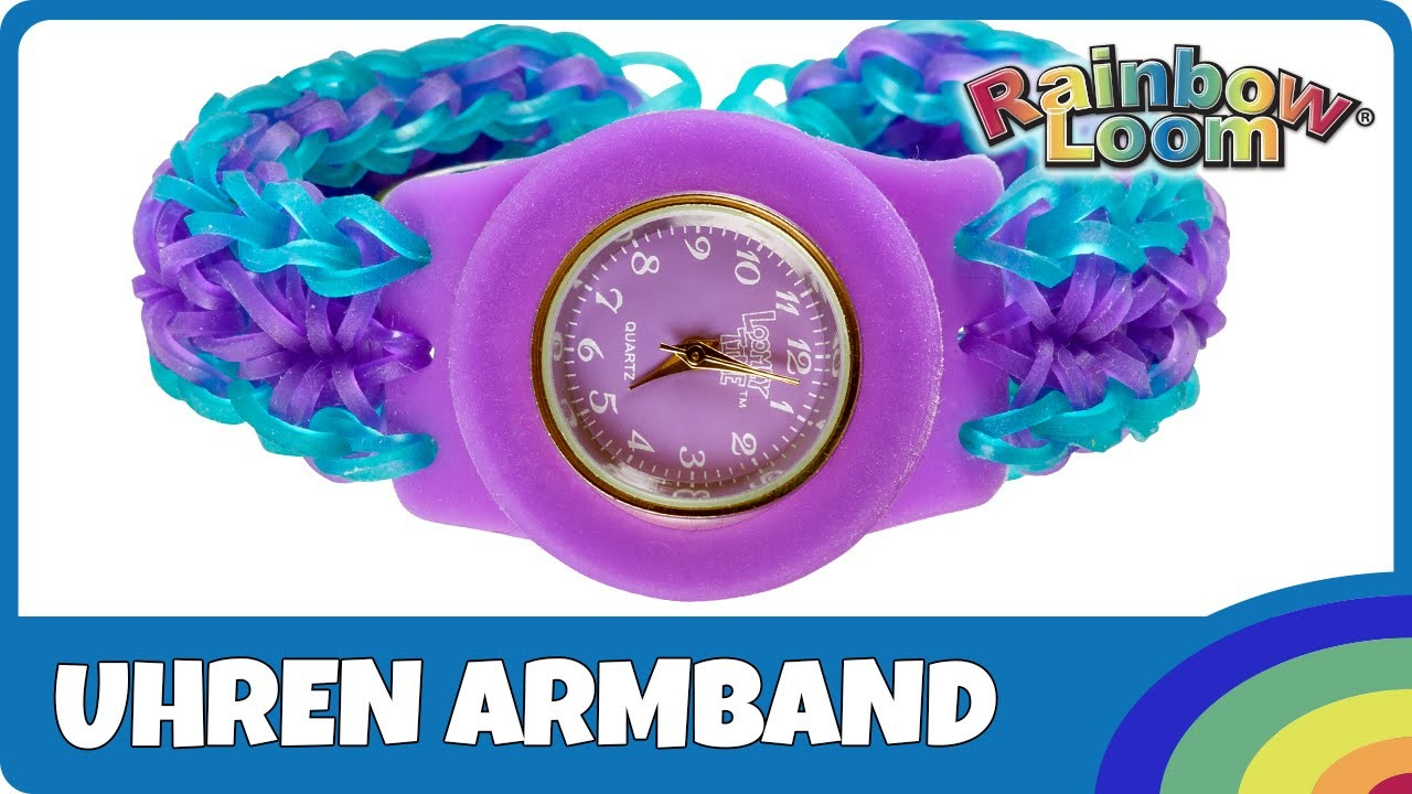 Rainbow Loom Uhren-Armband - deutsche Anleitung