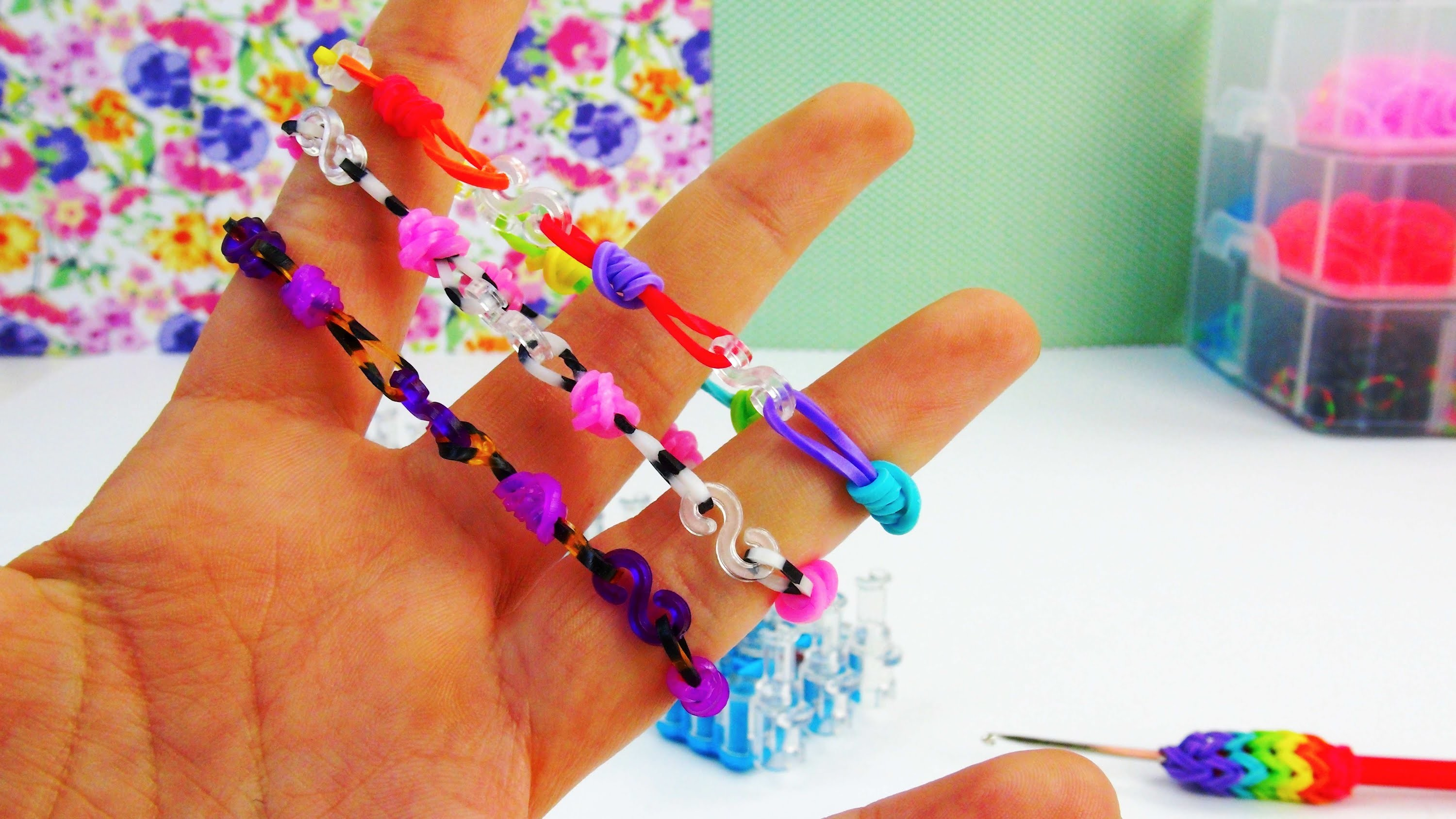 S-Clip Rainbow Loom Bracelet. Easy Rainbow Loom Tutorial Loom Band mit Fingern Anleitung | deutsch