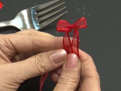 Ideen mit Herz - Minischleife selber binden - Der Gabeltrick