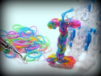 Buchstabe I - Loom Bands mit Rainbow Loom deutsch, Letter I (deutsche Anleitung)