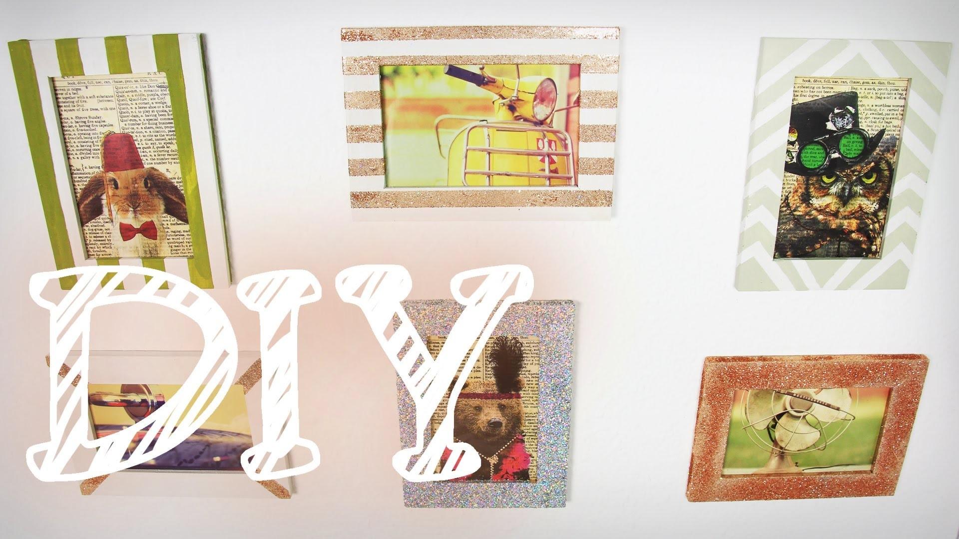 |DIY| Bilderrahmen umgestalten mit Glitzer und Acrylfarbe - super easy