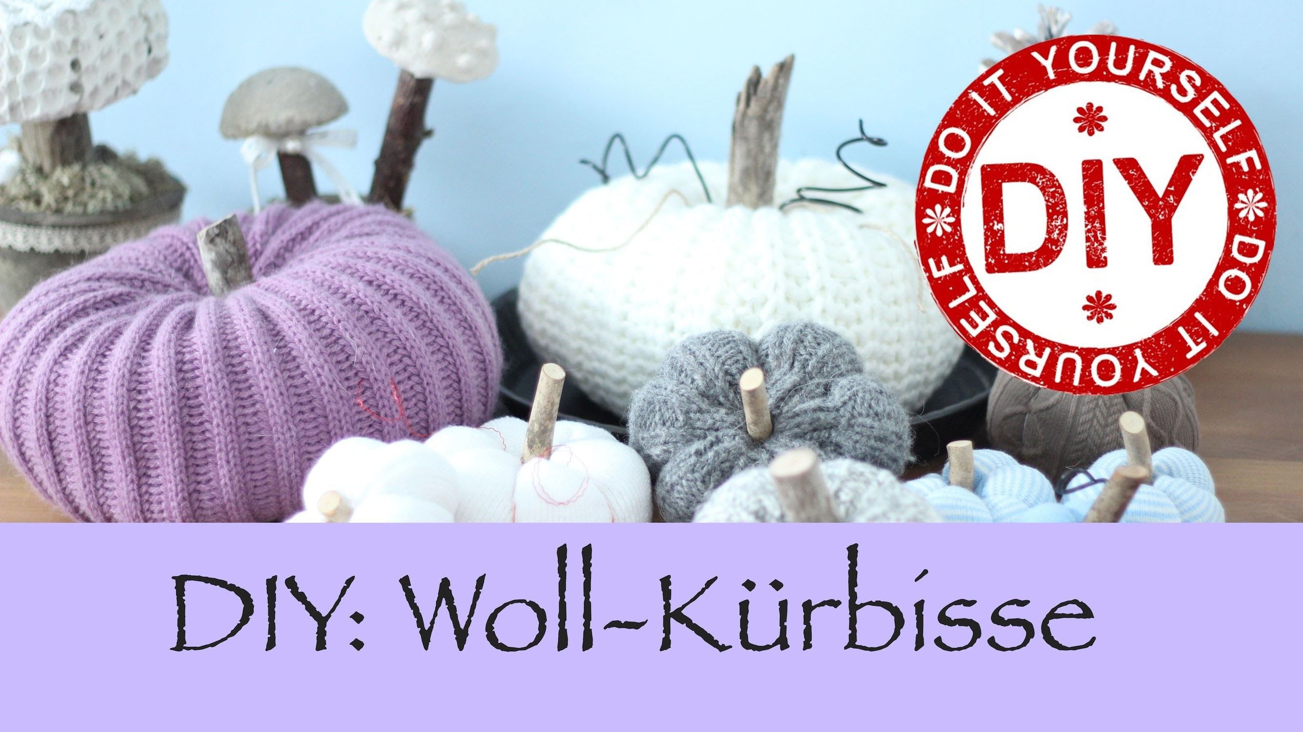 DIY: Wollkürbisse ohne zu Stricken ★ Deko Inspirationen Selbstgemacht