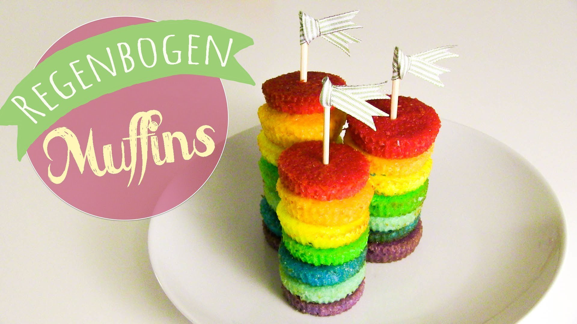 Party Regenbogen Muffins