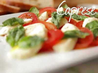 Rezept: Insalata Caprese (Tomate Mozzarella) selber machen