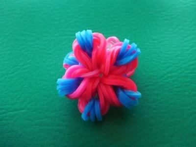 Ring Blume Flower Loom Bands Rainbow Schmuck Anleitung