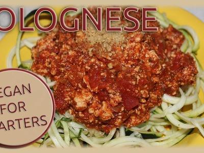 VeganForStarters - Rezept: vegane Bolognese & Parmesan