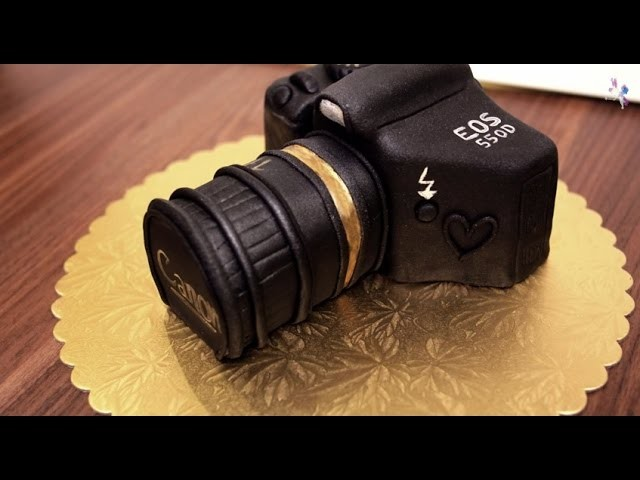 Canon-Kamera Torte - Camera Cake Tutorial - Canon Kuchen - von Kuchenfee