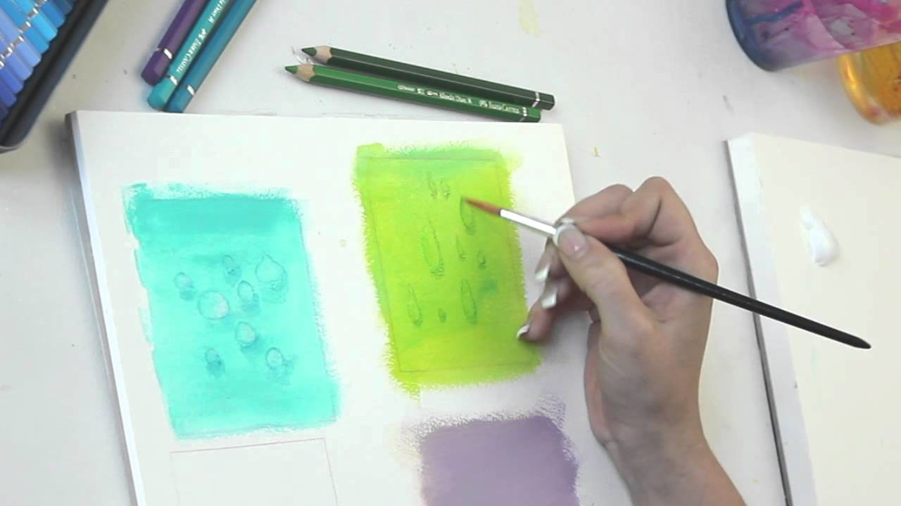 Wassertropfen in Acryl mit Aquarellstiften Tutorial - Malen lernen - by zAcheR-fineT