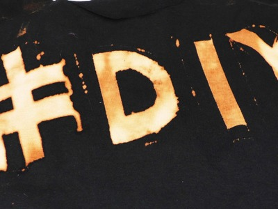 DIY T-Shirt Upcycling mit Bleichmittel | Kleidung Klamotten neu gestalten