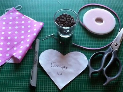 Anleitung: Lavendelkissen zum selber nähen - gefülltes Kissen sticken